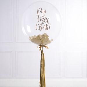 Personalised Gold Tassel Party Balloon - decoration