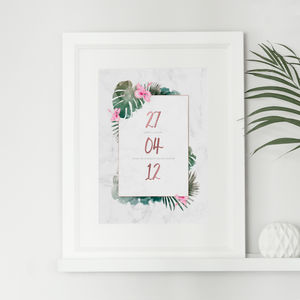 Personalised Tropical Anniversary Gift Print