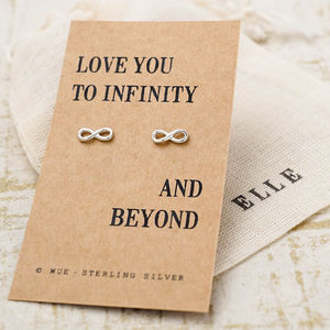 Infinity Love Silver Earrings - earrings