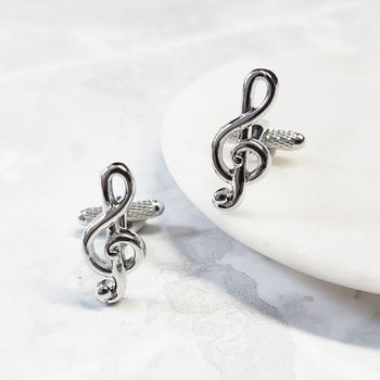 Music Cufflink Treble Clef Musical Note
