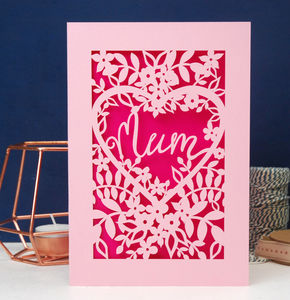 Papercut Mum, Mama Or Mummy Card - view all gifts