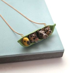 Tropical Peas In A Pod Necklace