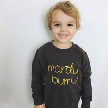 Children's Mardy Bum Embroidered Sweatshirt