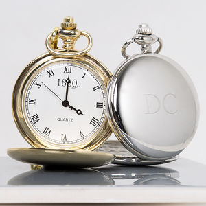 Initial Personalised Pocket Watch - winter sale