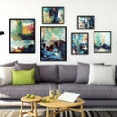 Abstract Art Prints Sets Gallery Wall Five Prints