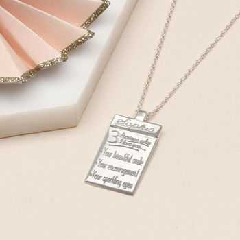 Personalised Sterling Silver Dogtag And Chain