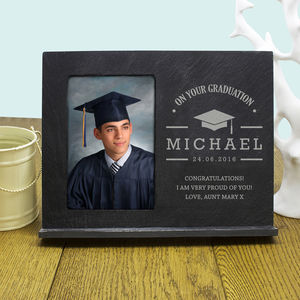 Personalised 'On Your Graduation' Slate Frame - picture frames