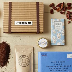 Coffee Lovers Personalised Letter Box Hamper - food & drink