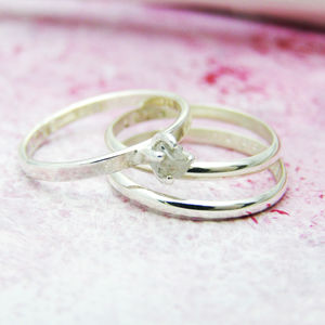 Personalised Diamond Stacking Ring - rings
