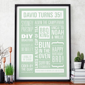 Personalised Memories Print - frequent traveller