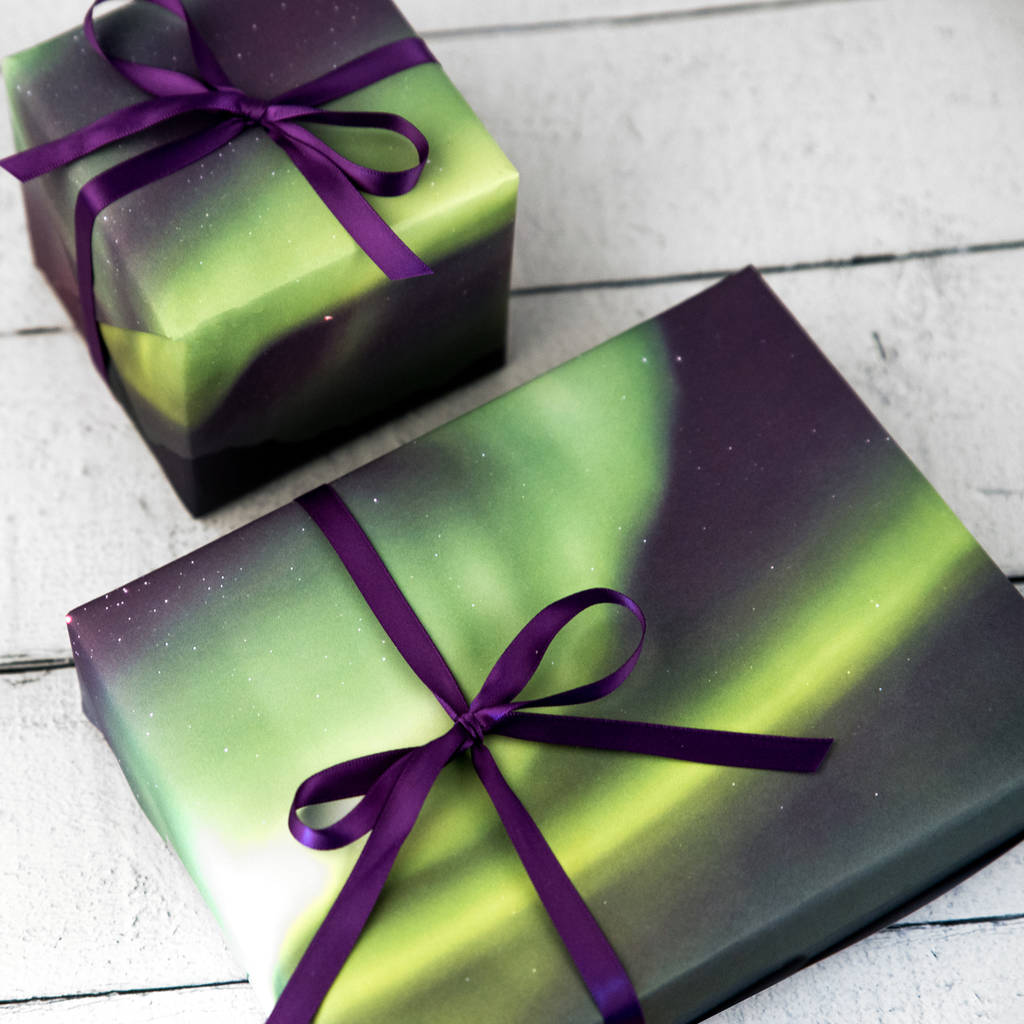 Northern Lights Gift Wrap By Bread & Jam