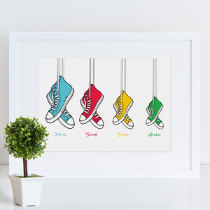 Personalised Family Boots Print - children's room
