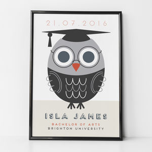 Personalised Graduation Print - dates & special occasions