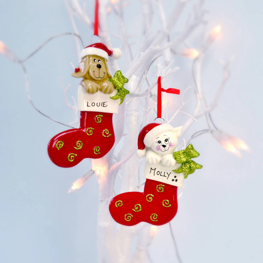 Personalised pet christmas decoration by letteroom for Personalised christmas decorations