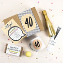 40th Birthday Gift Box 'Birthday In A Box' 40th