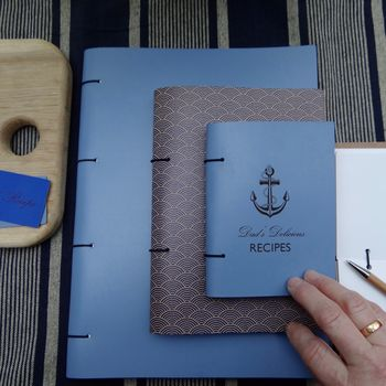Personalised Engraved Leather Family Recipe Book