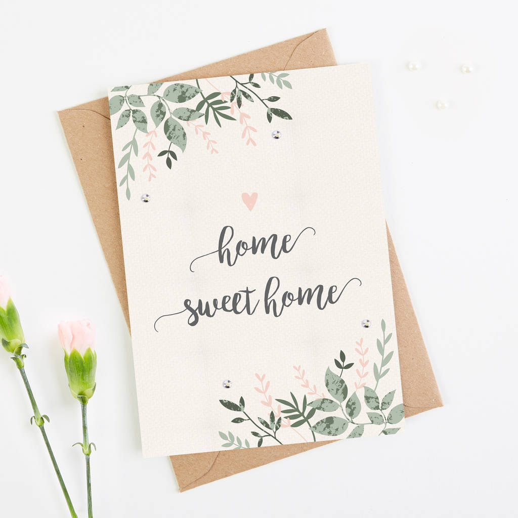 home sweet home card botanical blush by norma&dorothy ...
