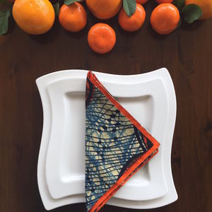 Vibrant Kitenge Napkin Set Of Six