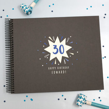 Personalised 30th Birthday Spiral Bound Book