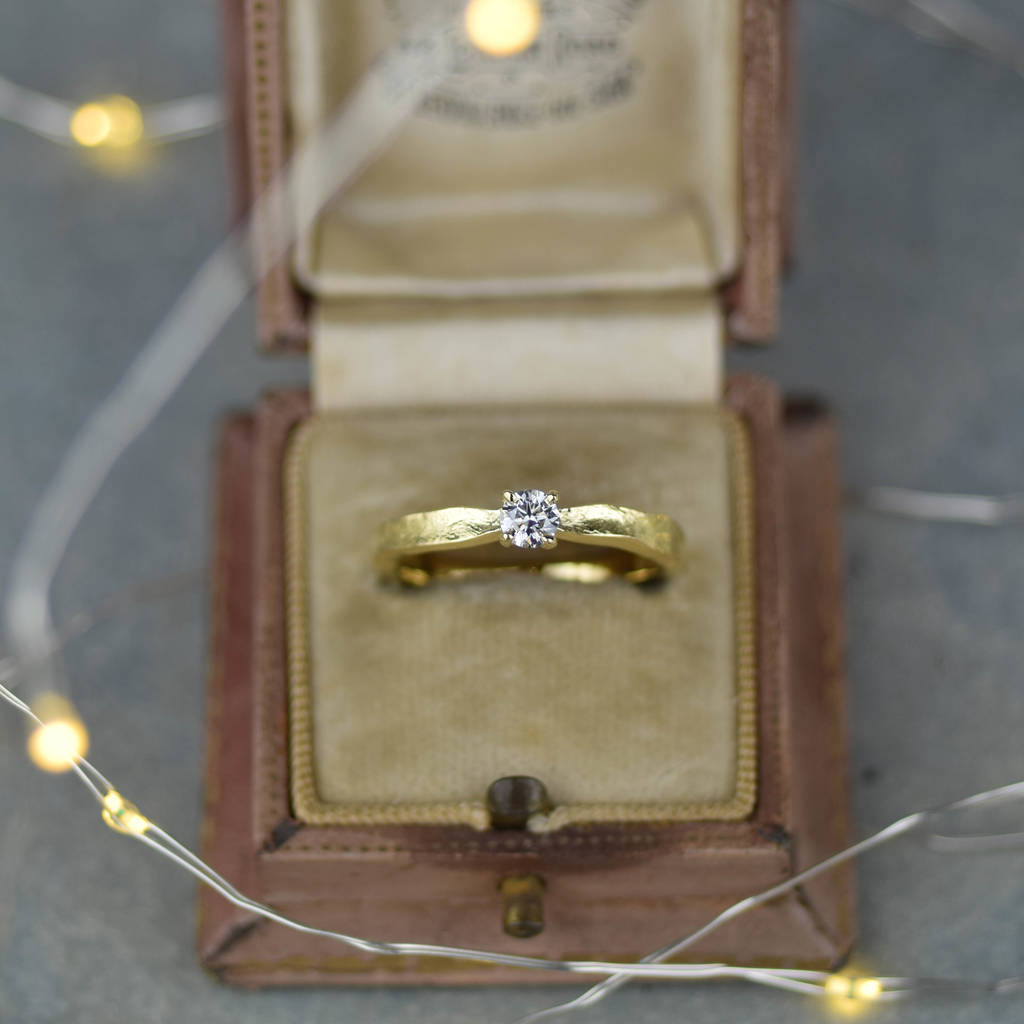 Tinkerbell 18ct Gold Diamond Engagement Ring By Alison Moore Designs