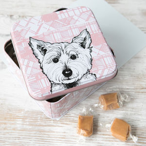 Scottish 'Tartan Westie' Fudge Tin