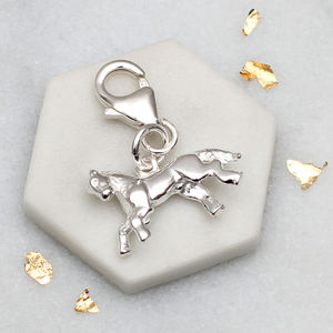 Sterling Silver Clip On Little Horse Charm - new in jewellery