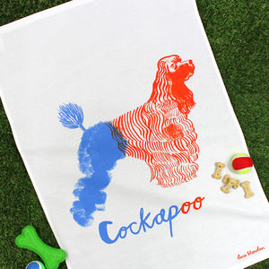 Cockapoo Tea Towel - new in home