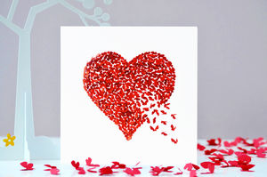 Romantic Red Valentines Butterfly Heart Card - birthday cards