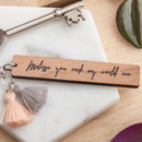 personalised quote keyring gift