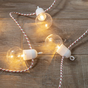 10 Candy Cane Cable Festoon Lights