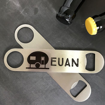 Personalised Caravan Bar Blade Bottle Opener