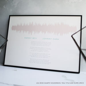 Soundwave Print With Song Lyrics - summer sale