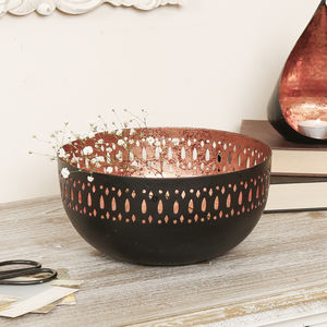 Black And Rose Copper Bowl Gift - table decorations