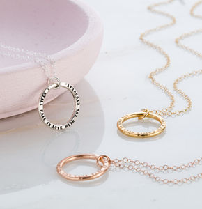 Personalised Circle Necklace - jewellery gifts for friends