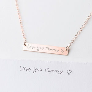 Personalised Your Child's Handwriting Necklace - personalised mother's day gifts