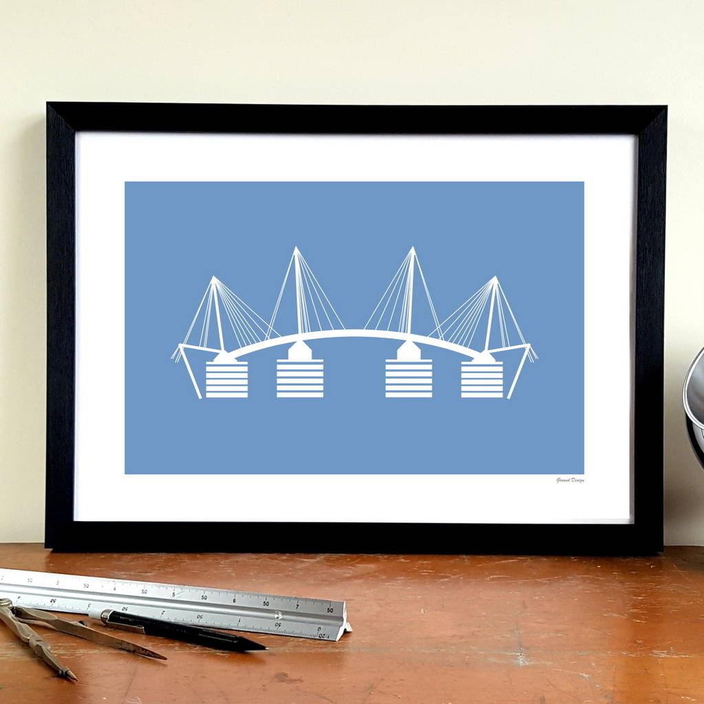'Eastlands Approach' Football Stadium Design Art Print