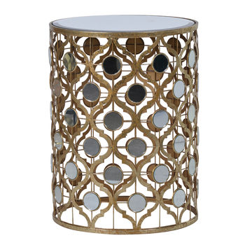 Arabesque Side Table With Mirrored Top