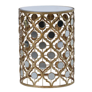 Arabesque Side Table With Mirrored Top - furniture