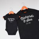 Father And Child Surname Clothing Set