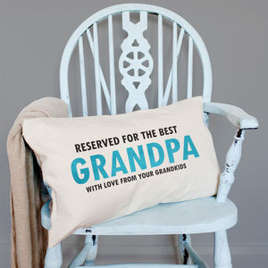 Personalised 'Reserved For' Velveteen Cushion - living room