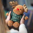 Personalised Christmas Reindeer Soft Toy