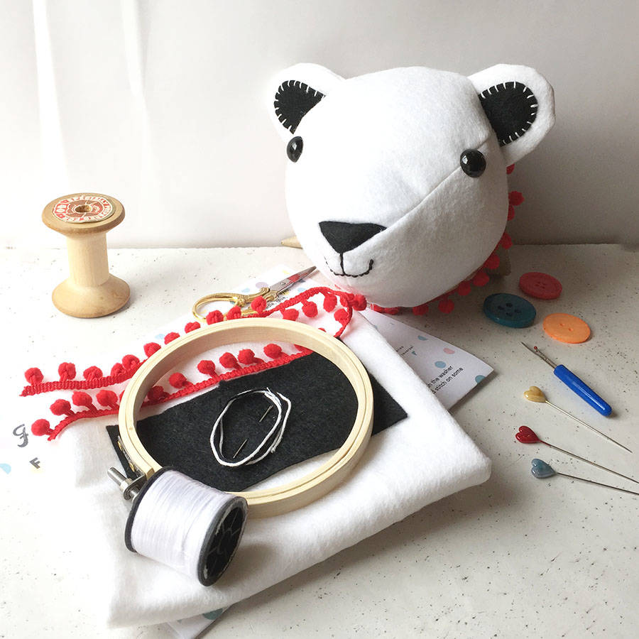 s cute 7th no.18_Percy Polar Bear Craft Kit By The Make Arcade | notonthehighstreet.com