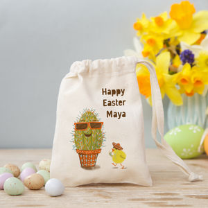 'Egg In Disguise' Cactus Bag With Sweets Or Chocolates