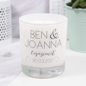 Personalised Engagement Luxury Scented Candle - tableware