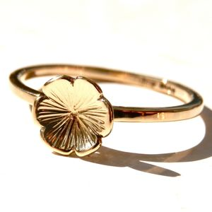 9ct Yellow Gold Flower Ring - rings