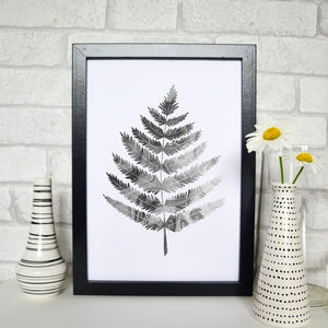 Fern Leaf Marble Illustration Print - drawings & illustrations