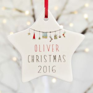 Personalised Christmas Tree Decorations - keepsakes