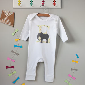 E Is For Elephant Babygrow - new in baby & child