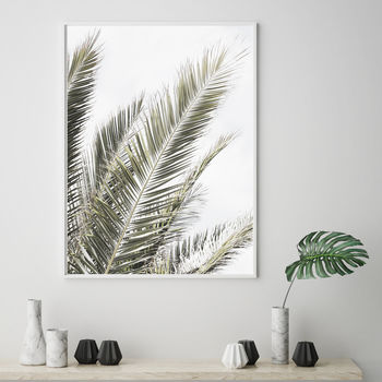 Palm Leaves Original Scandinavian Print