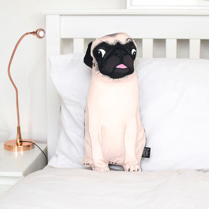 Velvet Pug Pillow - brand new partners